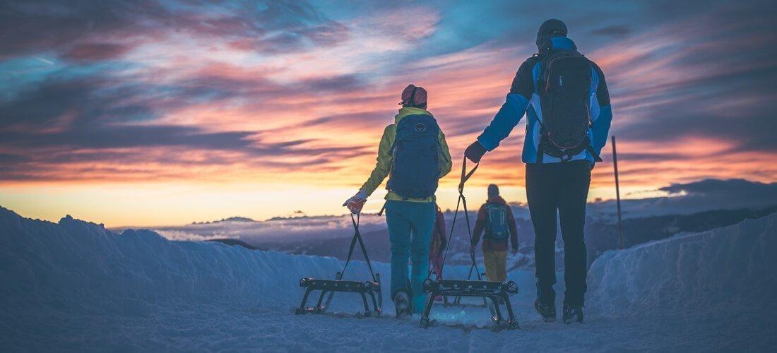 Slittare in sicurezza nella vacanza invernale